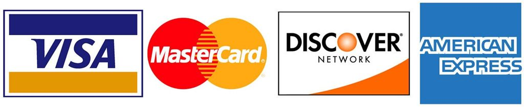 We Accept Credit cards at SISC